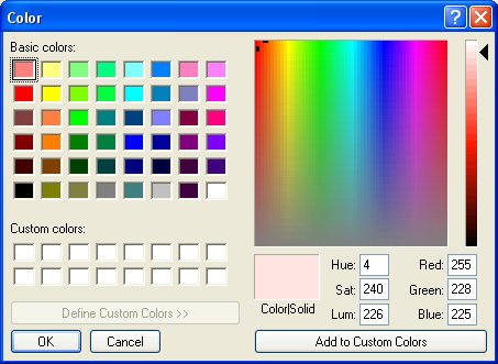 MS Color Dialog