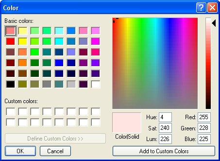 MS Color Dialog